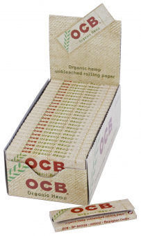 BOX OCB Organic Hemp single wide 50 Stück