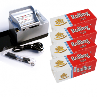 SET: Powermatic 2 PLUS silber + 1.000 ROLLING Hülsen