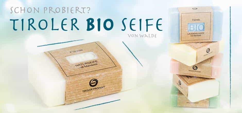 Banner WALDE Bio-Seifen